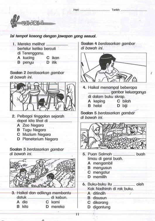 Latihan Bahasa Melayu Tahun 3 Dan Jawapan