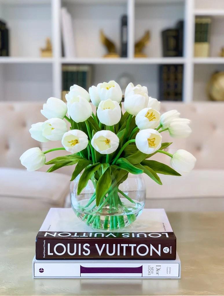 large table centerpiece tulips table centerpiece large tulip artificial flower arrangement real touch tulip flower arrangement home decor