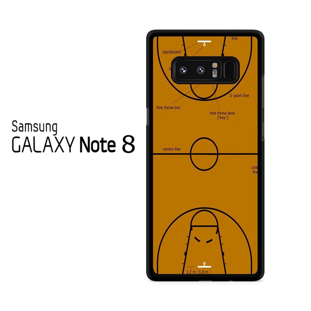 Basketball Court Diagram Samsung Galaxy Note 8 Case – Comerch