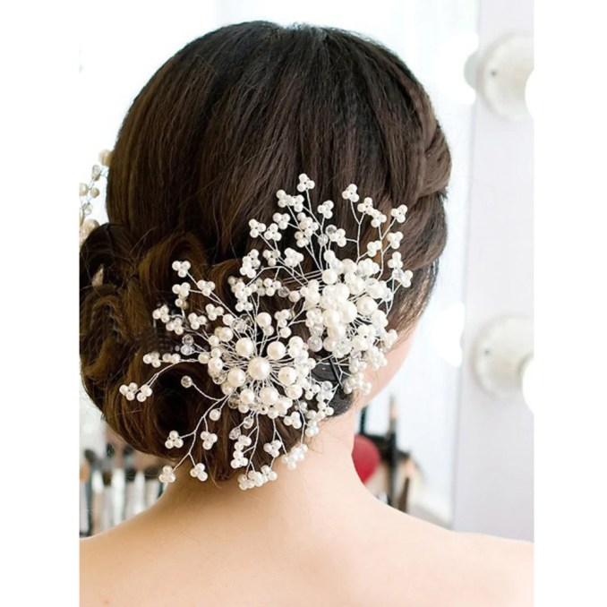 hair accessories floral wedding pearl crystal bridesmaid bridal party hair comb hairpin hair jewelry hair accessories for women