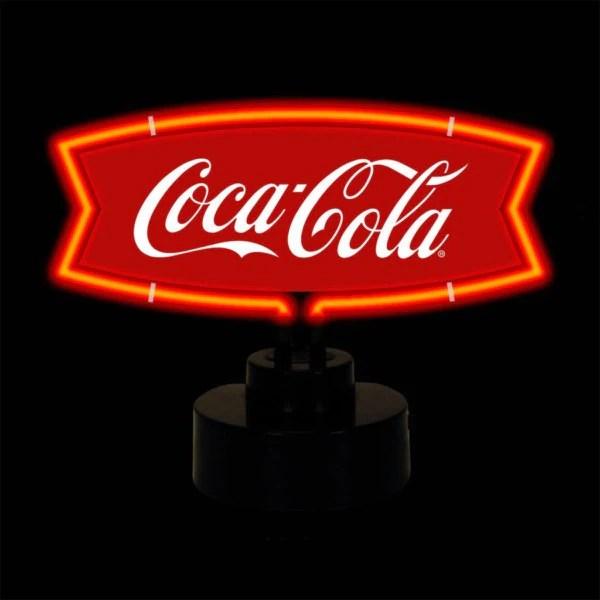 Coca Cola Red And White Fishtail Neon Sculpture Fandom