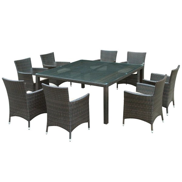 channels 9 piece outdoor patio dining set brown white dswchairs com