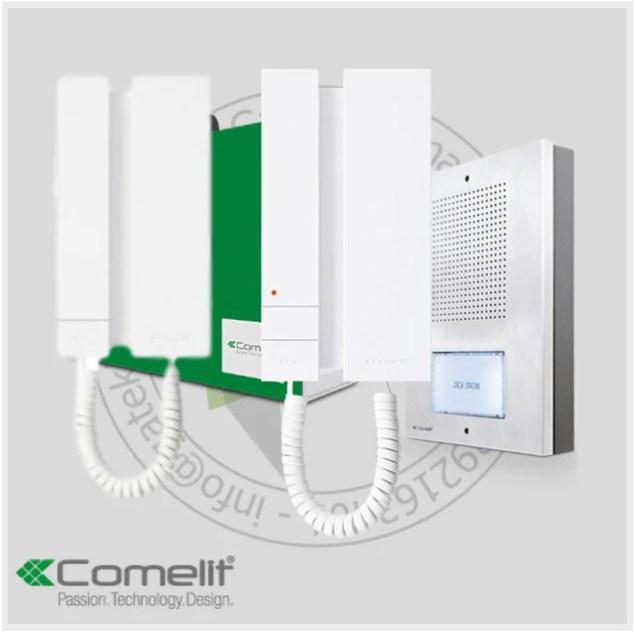 comelit 5 wire intercom kit