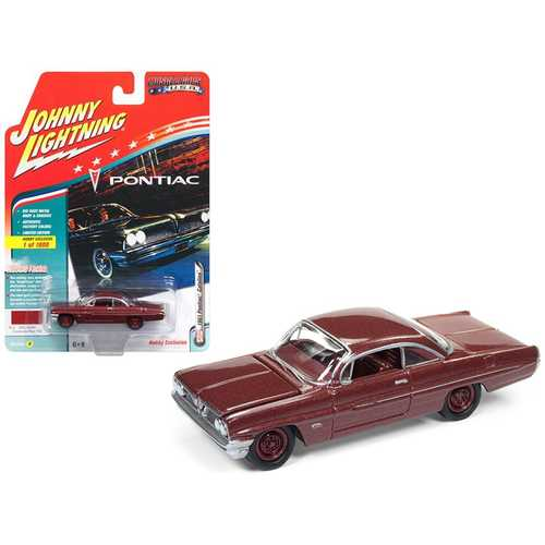 1961 Pontiac Catalina Coronado Red Poly Limited Edition to 1800pc     1961 Pontiac Catalina Coronado Red Poly Limited Edition to 1800pc Worldwide  Hobby Exclusive  Muscle Cars USA  1 64 Diecast Model Car by Johnny Lightning