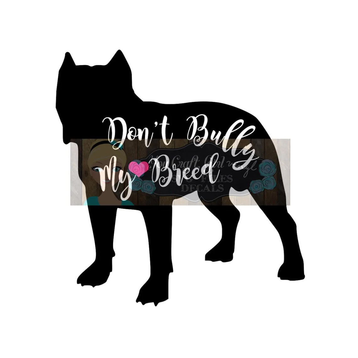 Download Pitbull Don't Bully My Breed Svg Dxf Commercial SVG dog ...