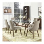 Stefan Retro Scandinavian Glass Dining Table 6 Seater The Design Edit