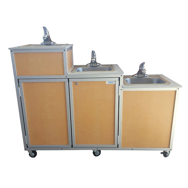 monsam three level triple basin portable sink kindermark kids