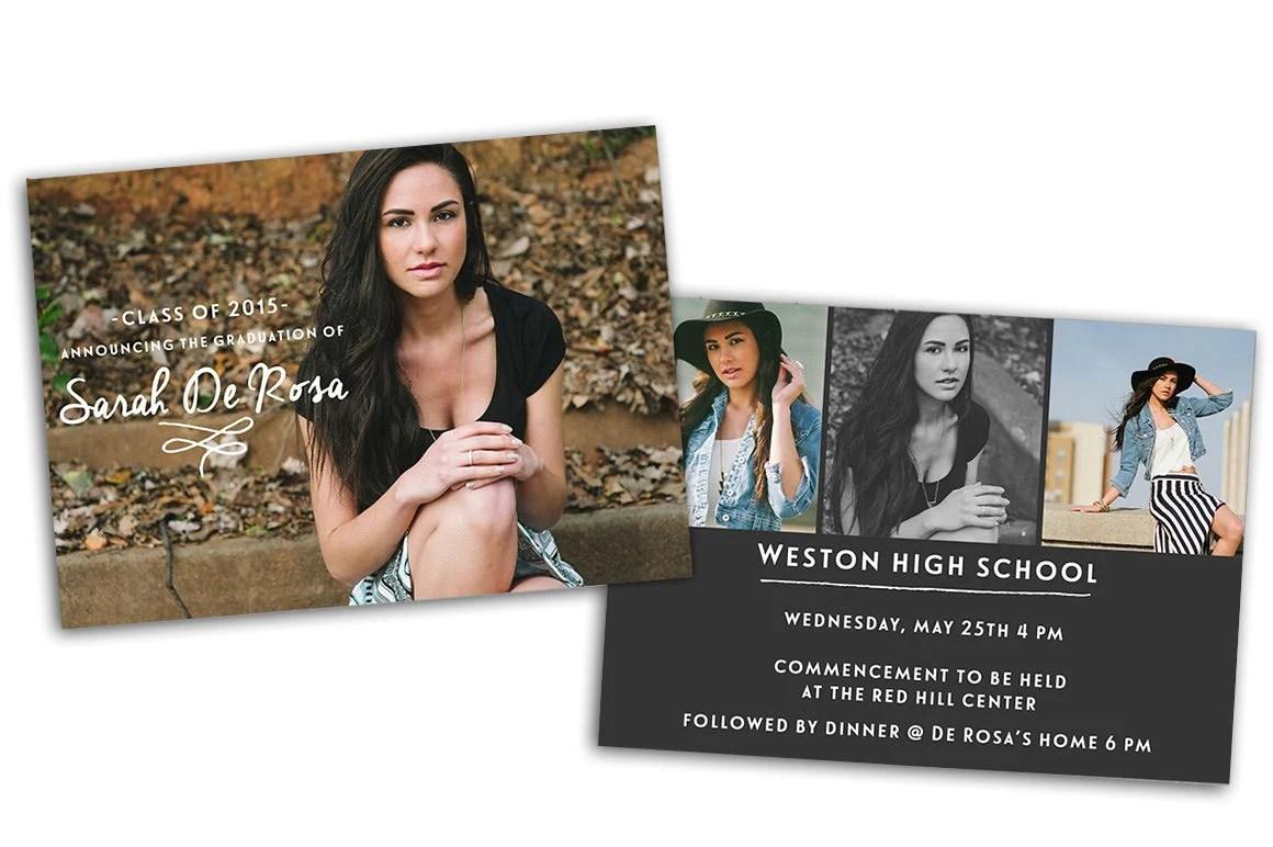 Senior Graduation Photoshop Template Creativepresets