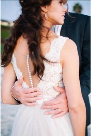 Beach Wedding Dress,Lace Bridal Gowns,A Line Tulle Prom Dress,Bridal Dress For Beach Wedding L300 - Ombreprom