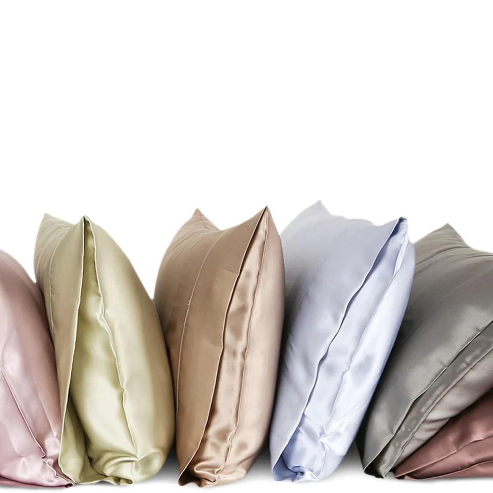 a silk pillowcase