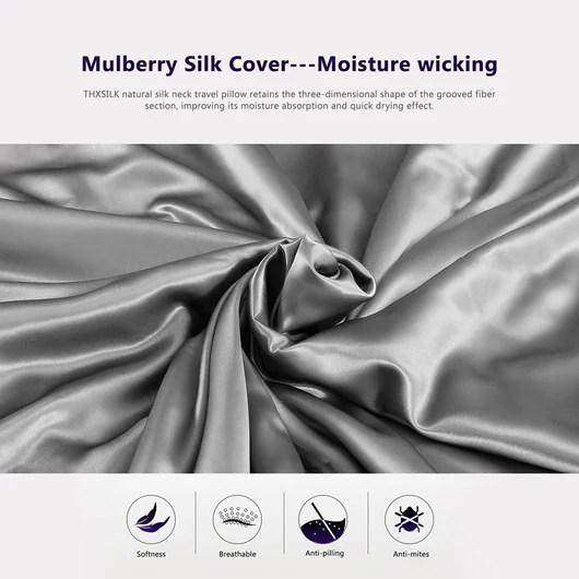 silk travel neck pillow 4 colors