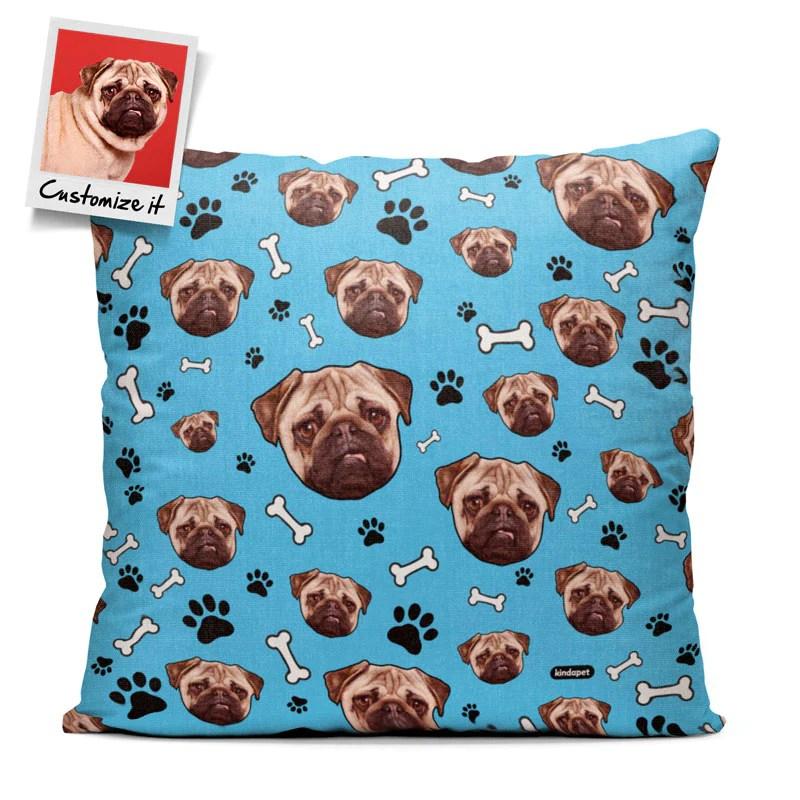 pet s face custom pattern throw pillow