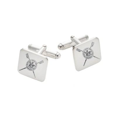 Silver Custom Logo Cuff Links