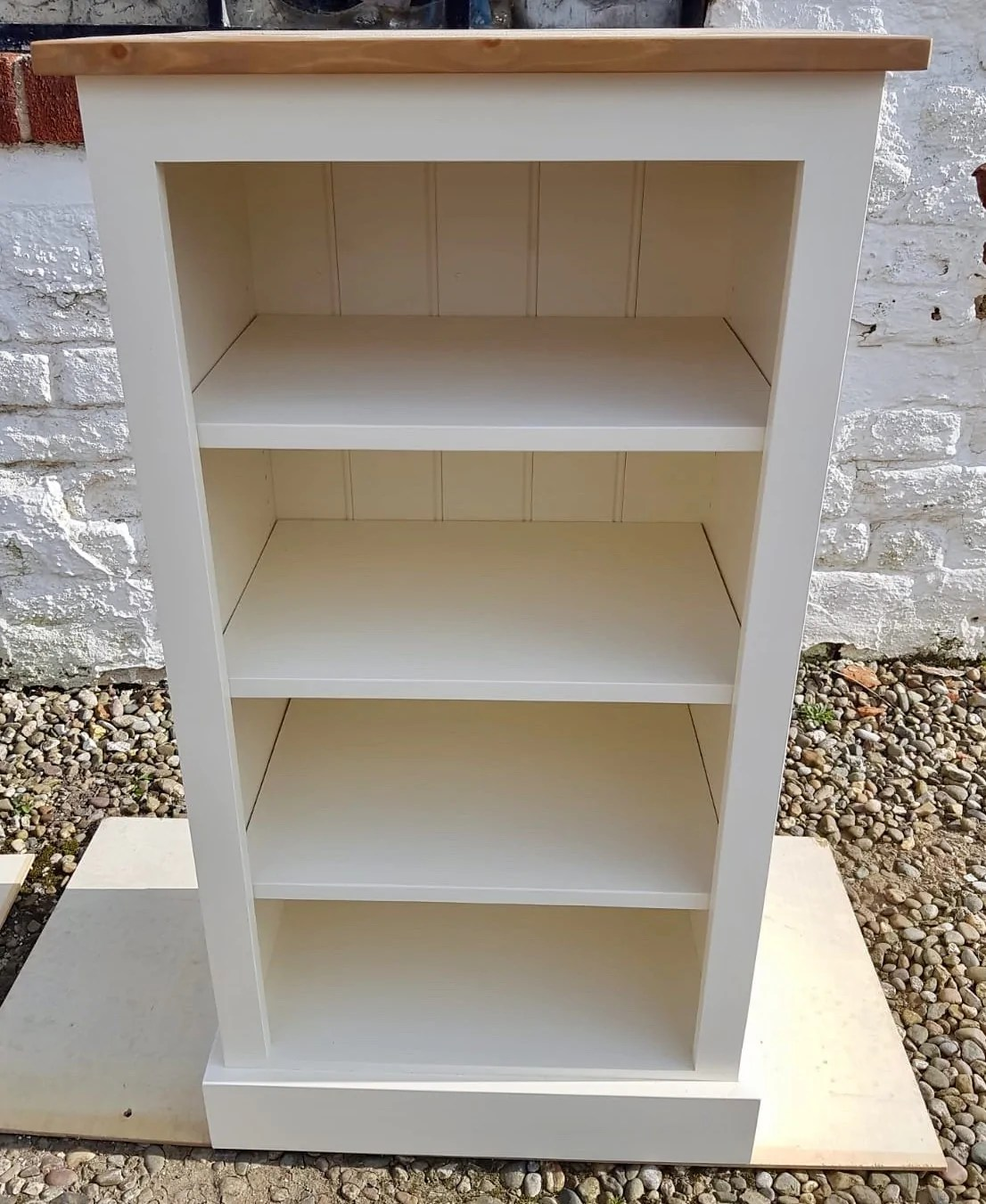 Solid Pine Low Bookcase 48 High With Adjustable Shelves