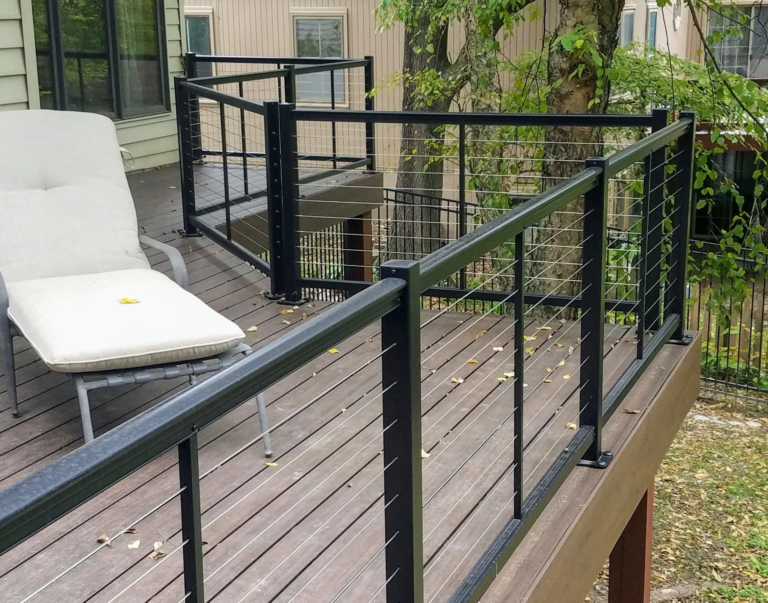 Cable Railing Systems Best Cable Rail Collections – Deck Rail   Metal Handrails For Decks   Small Deck   Outdoor   Residential   Metal Rope   Decorative