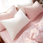 Softta Bohemian Bedding Queen Pink Vintage Pom Fringe Pompom Duvet Cov Sugar Plum Avenue Llc
