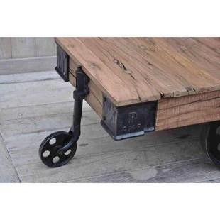 old railway sleeper industrial cart