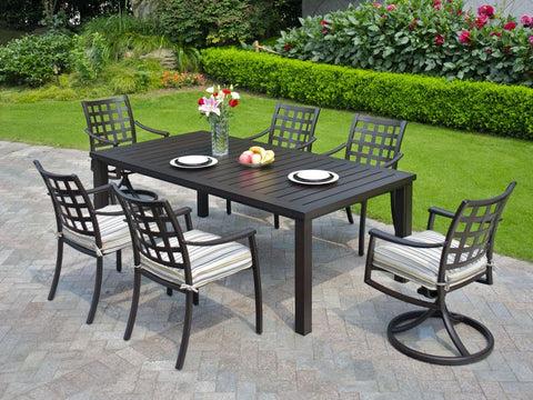 stratford aluminum outdoor dining set