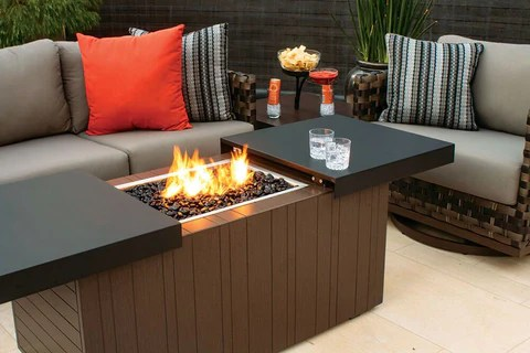 nevis firepit and table combo outdoor