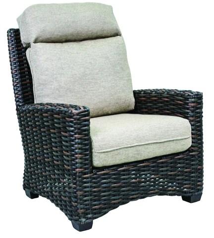 venture wicker lounge chair outdoor