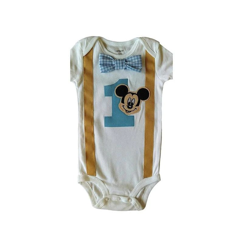 Baby Boys 1st Birthday Outfit Mickey Mouse Bodysuit Baby Boys Baby