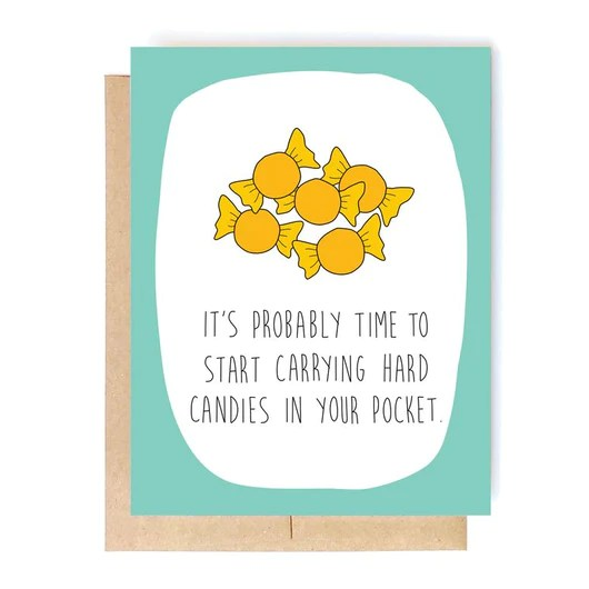 Funny Birthday Card Hard Candies Card Brother Sister Cousin Coworker In A Nutshell