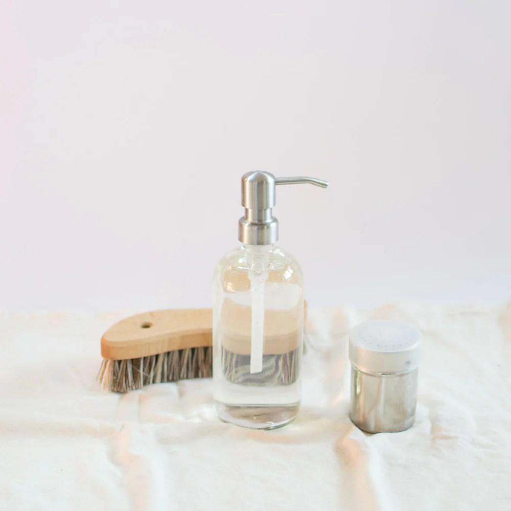 2 ingredient zero waste sink cleaner
