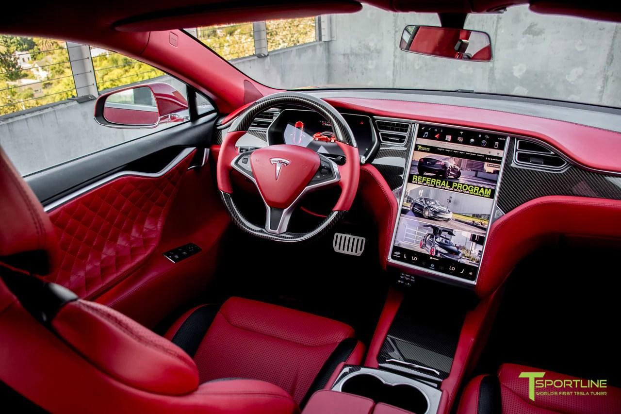 Red Multi Coat Custom Tesla Model S 20 Bentley Red