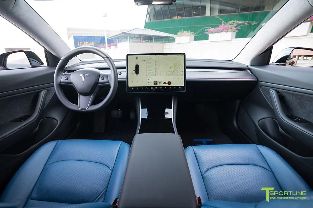 Tesla Model 3 Matte Carbon Fiber Interior Trim Kit