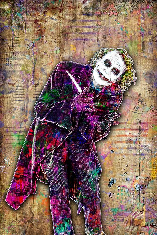 the joker heath ledger poster the dark knight tribute fine art