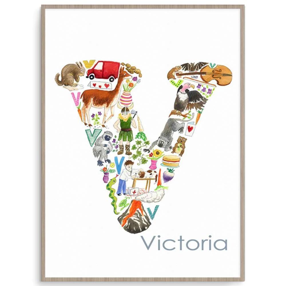 Letter V Alphabet Art For Kids Fizzy Pop Designs