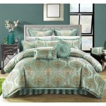 Jacquard Comforter Set En Damask Bedding Floral Pattern Master Bedroom Diamond Home