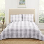 Plaid Quilt Set Checkered Lodge Cabin Themed Bedding Tartan Madras Lja Diamond Home