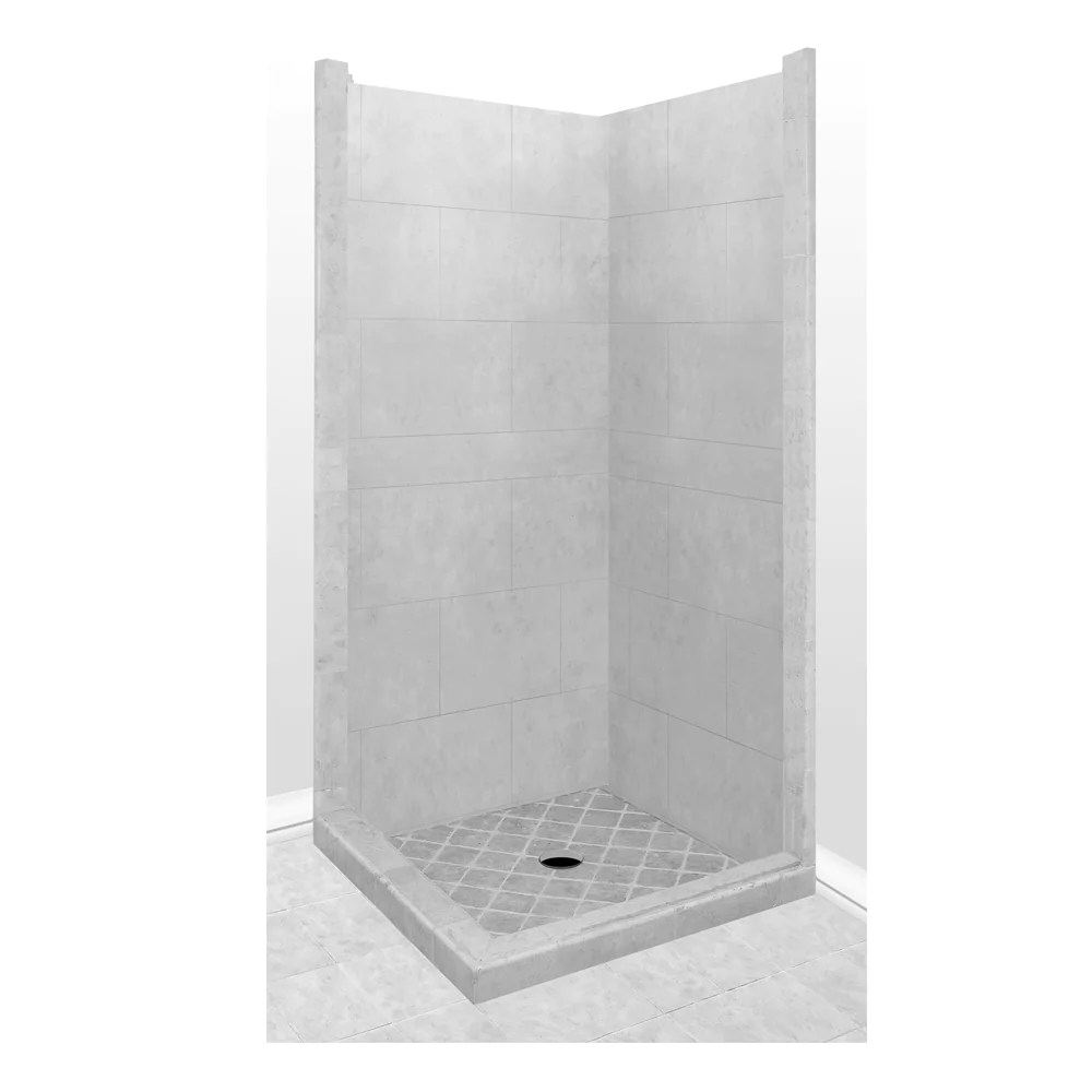4x4 corner shower kit style color options