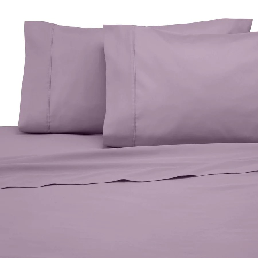 lilac flat sheet with pillowcase comfy solid sateen