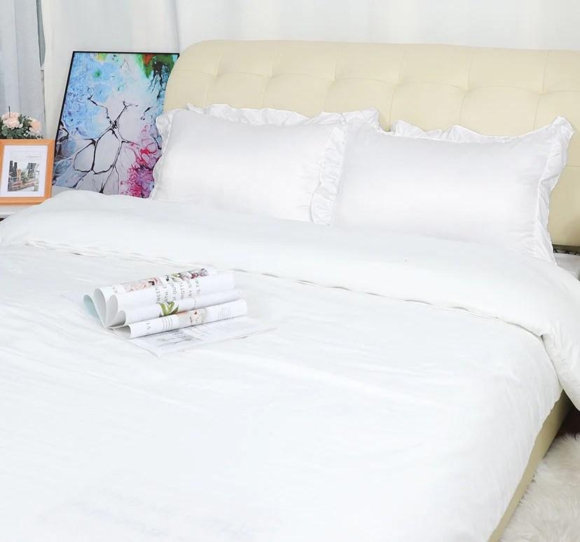 ruffle pillow shams comfy 300tc