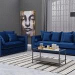 Royal Blue Velvet Moscow Sofa Sets Chic Concept