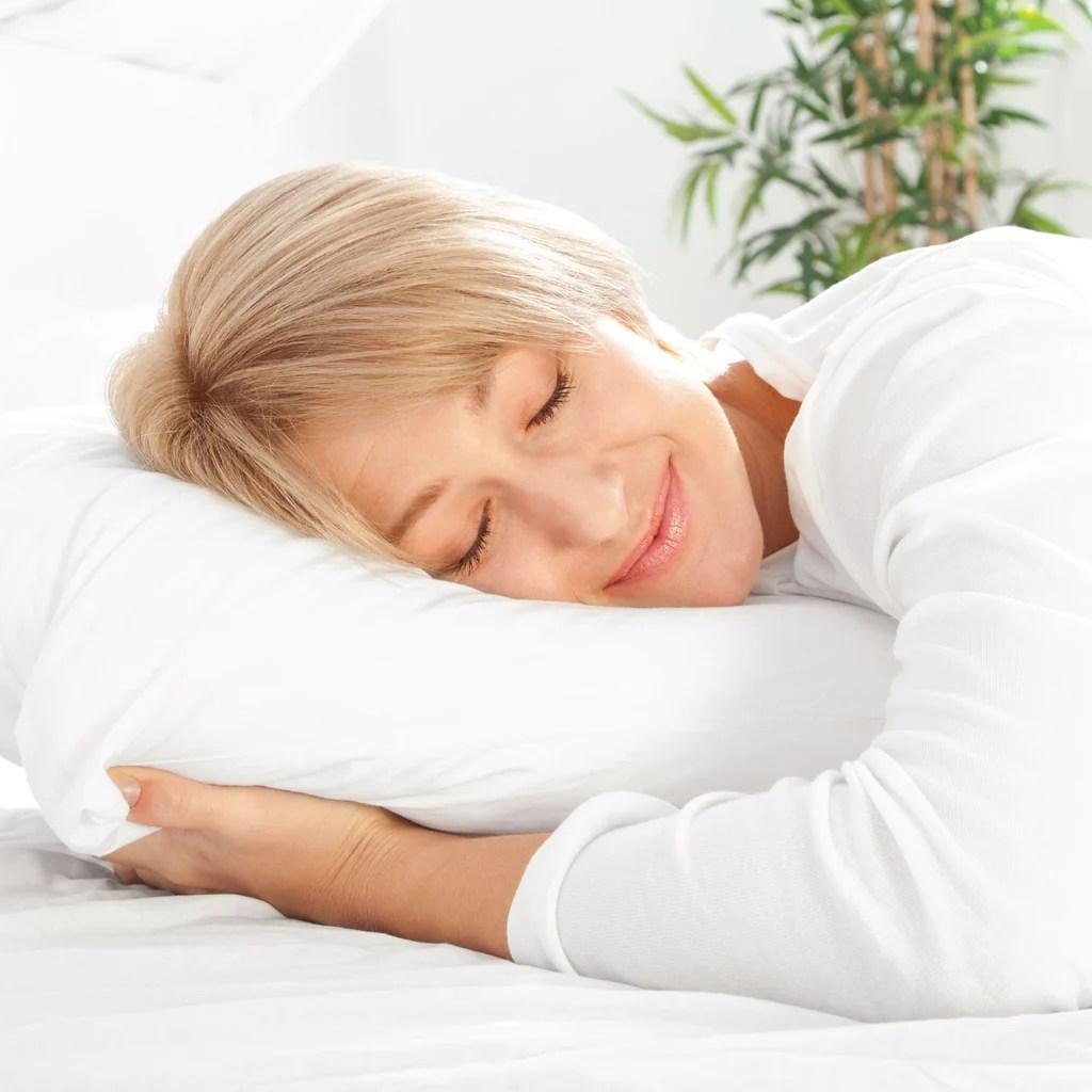 sleep restoration gel pillow best hotel quality comfortable plush cooling gel fiber filled pillow