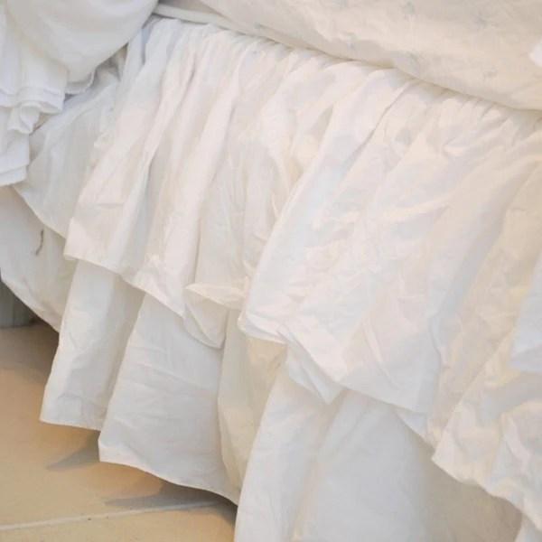 Liliput Double Ruffle Bedskirt Rachel Ashwell Shabby Chic Couture