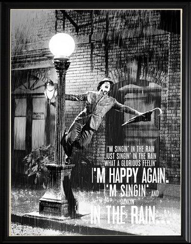 rain lyrics poster musicposters