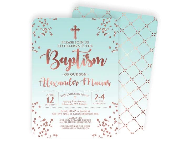 Christening Invitation Design Baby Boy