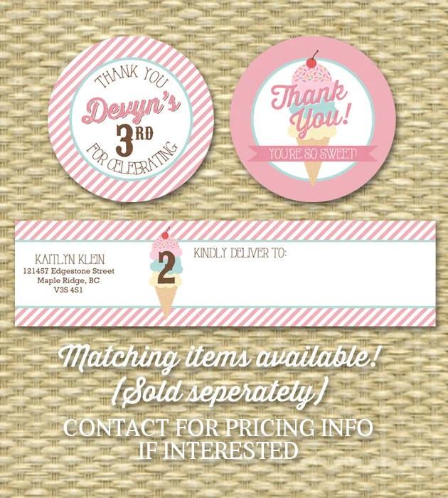 Ice Cream Party Invitation Birthday Party Invite Ice Cream Social Here Sunshine Printables
