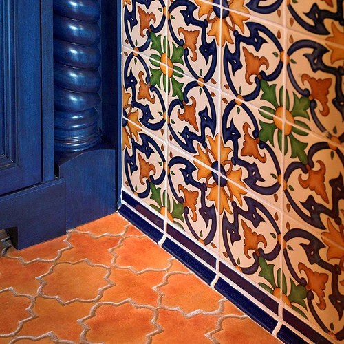 spanish tiles give sunny disposition to