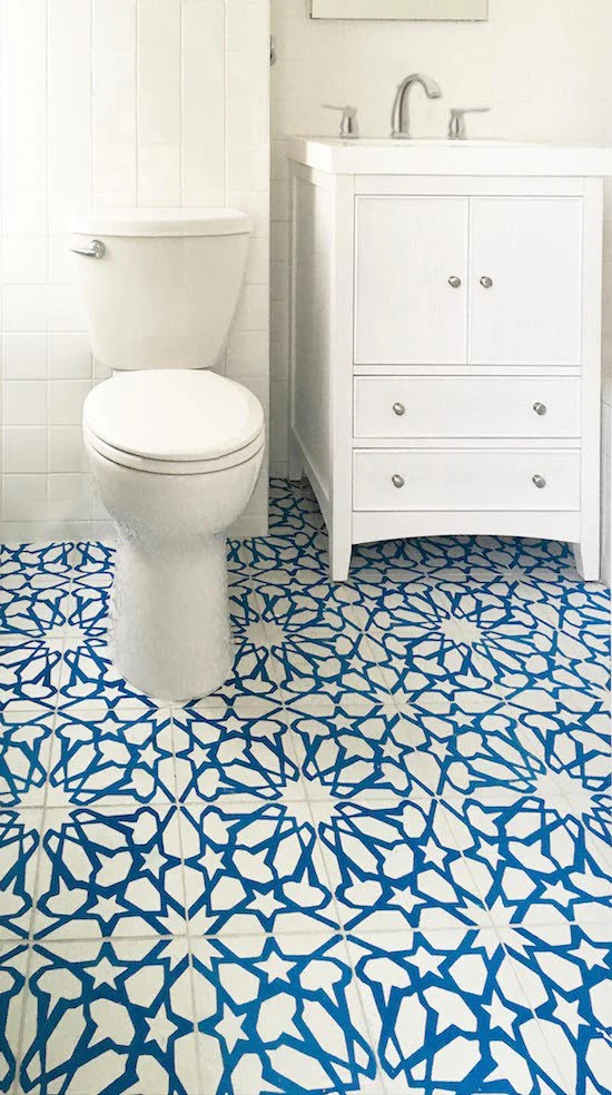 cement tile adds pattern color to