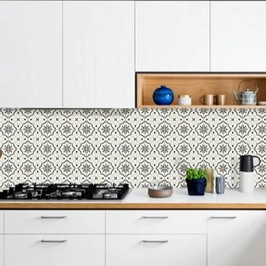 grayscale cement tile pattern for