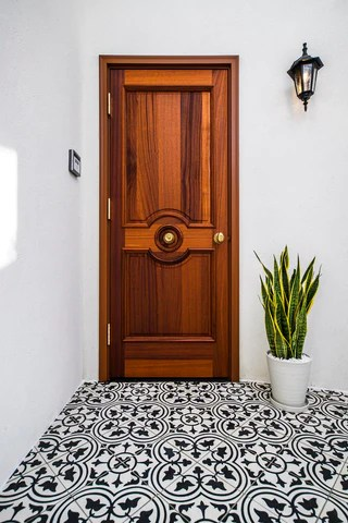 favorite black and white cement tile