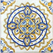 spanish aranjuez hand painted ceramic tile