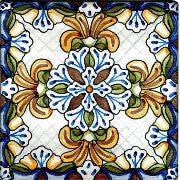 spanish teruel hand painted ceramic tile