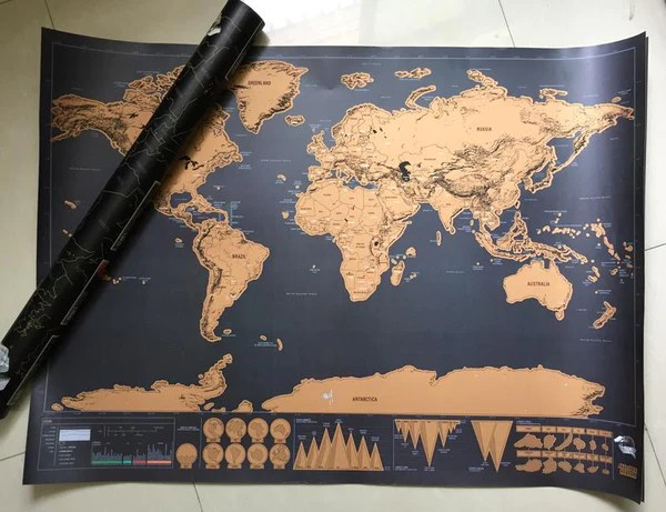 Scratch Off World Map Poster     Shopolis Scratch Off World Map Poster