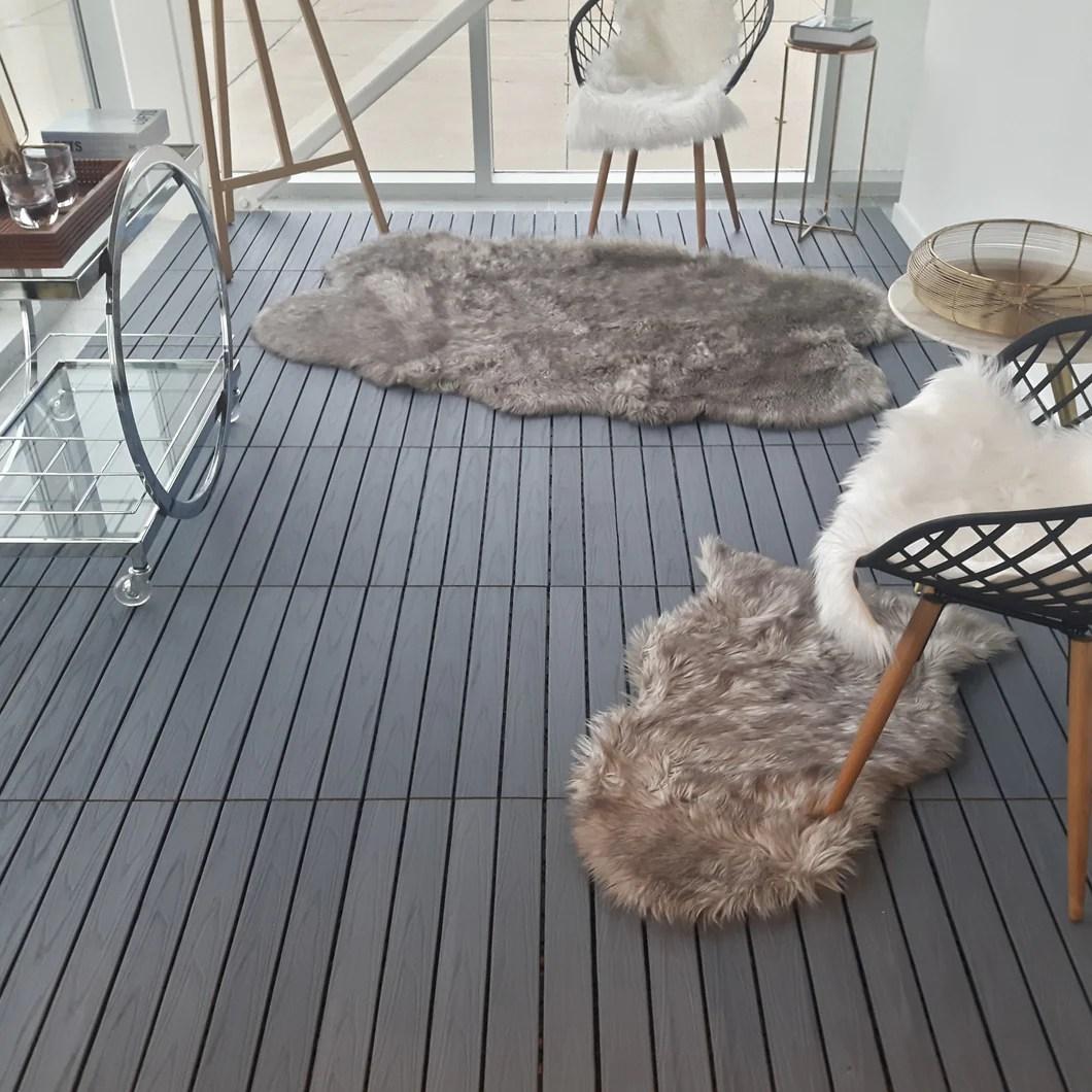 dura composite interlocking deck tiles